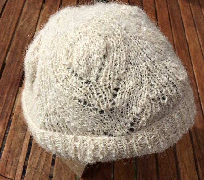 detail of Loch alpaca cap