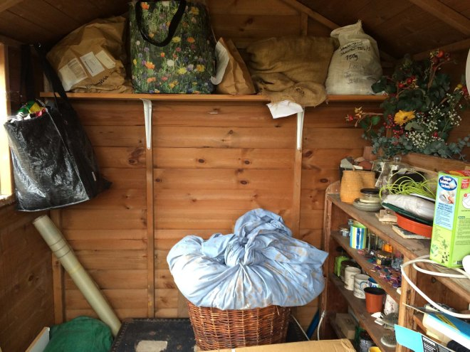 fleece on high in shed