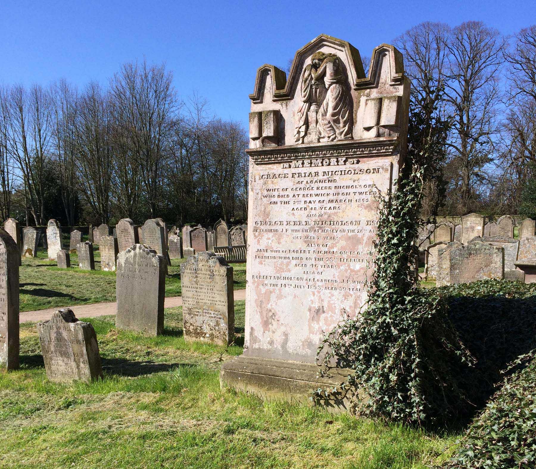 Grave of Grace Friar Nicholson