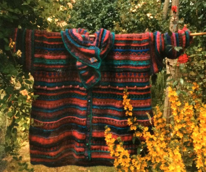 K's huge stripey cardigan - front