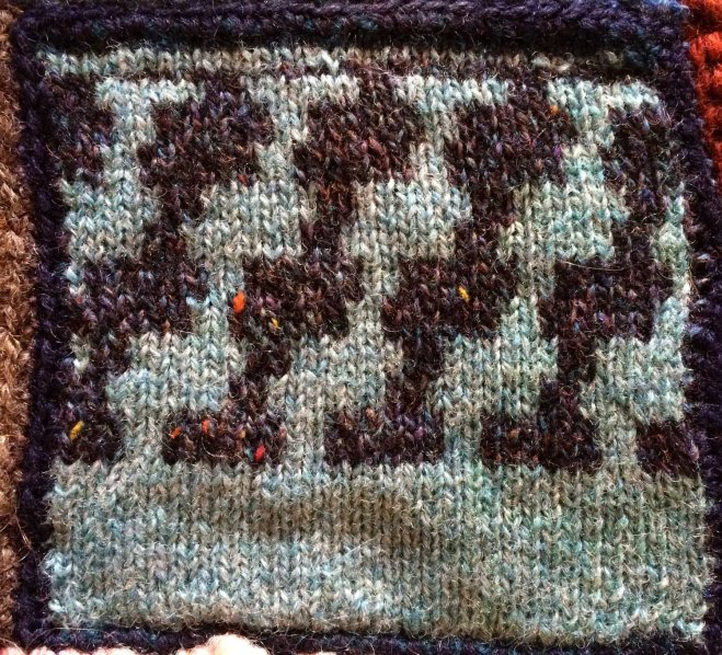small interlocking pattern swatch