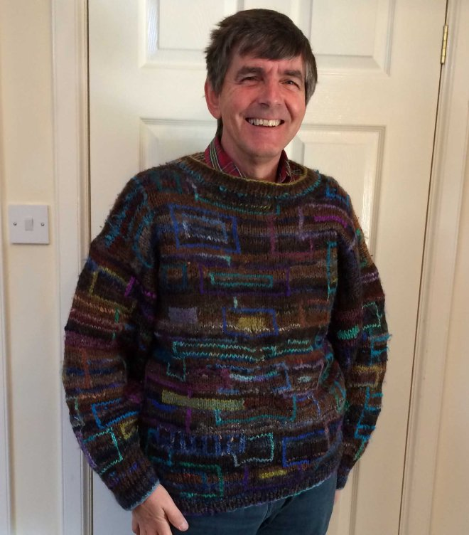 Stephen modelling sweater