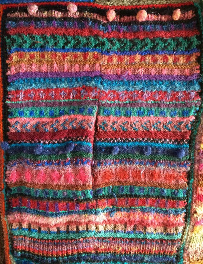 striped cardigan swatch
