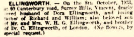 Vin obituary 1933
