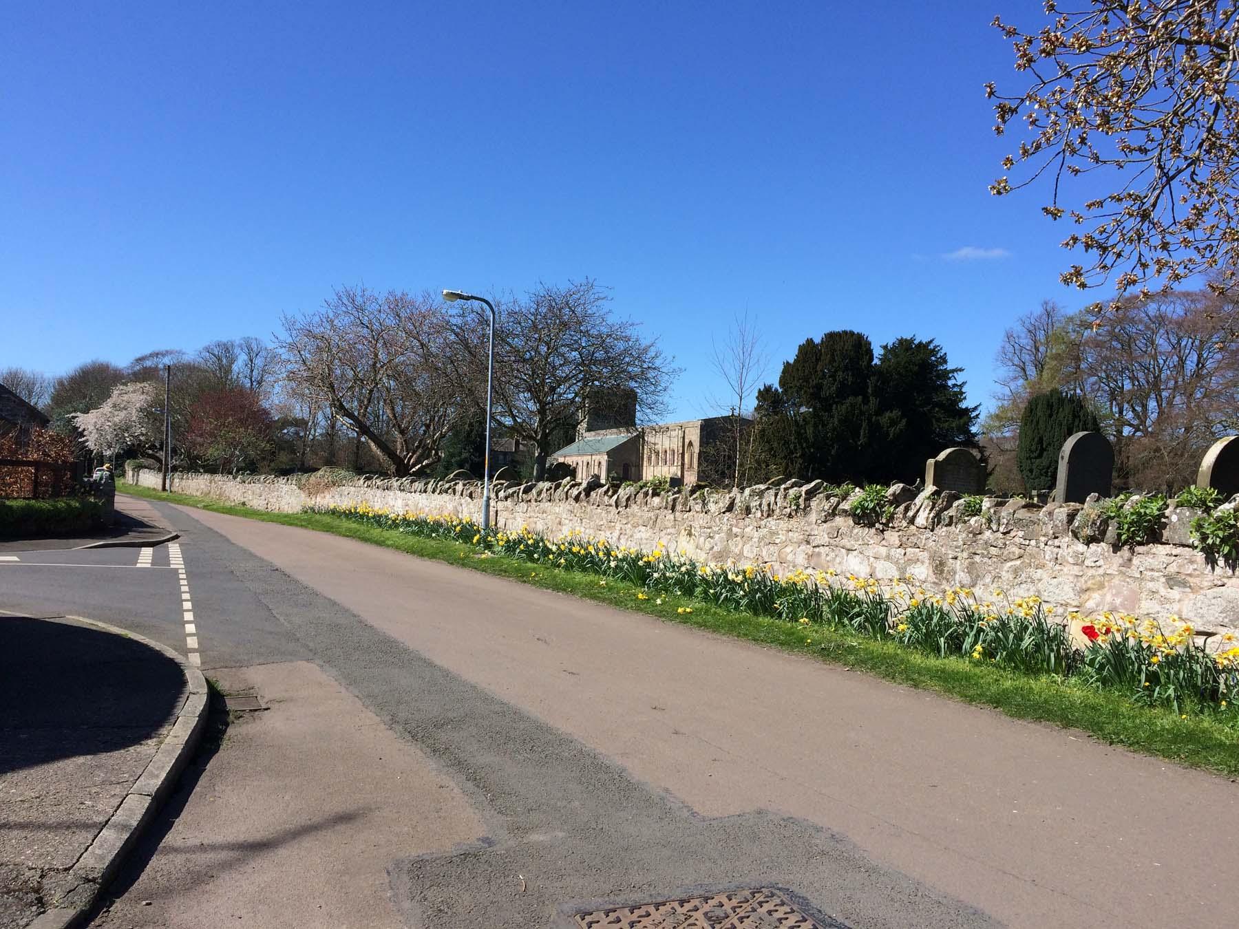 Walk back to Norham church