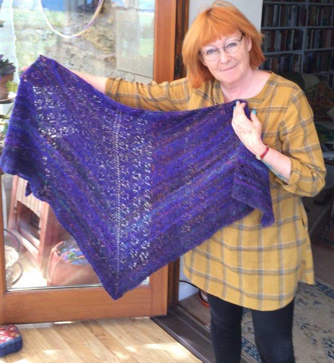 K with fika shawl