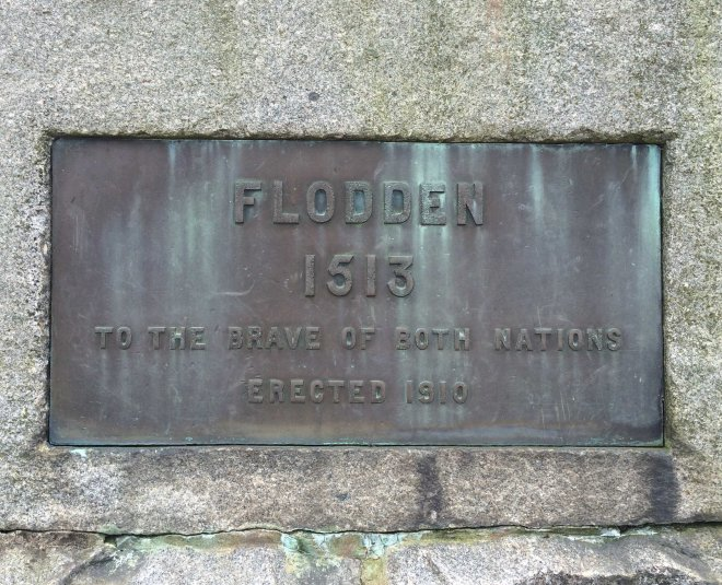 Plaque on the Flodden monument