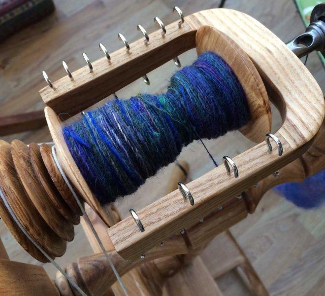 spinning the fleece