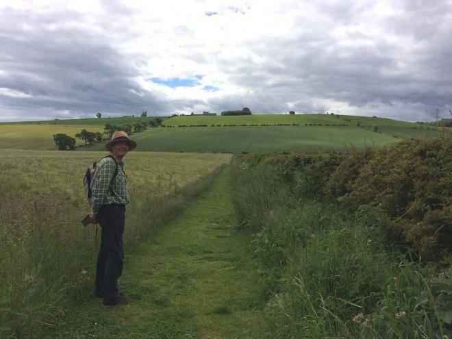 walking along field