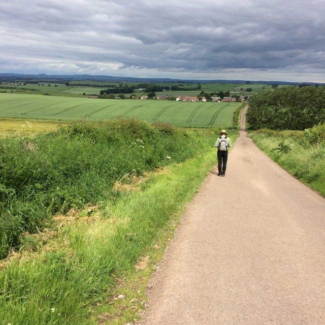 walking to Branxton village