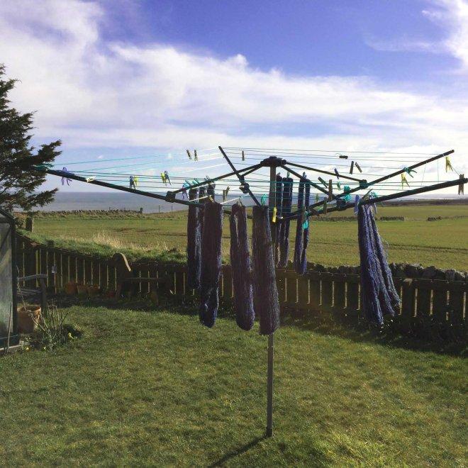 washing the hanks