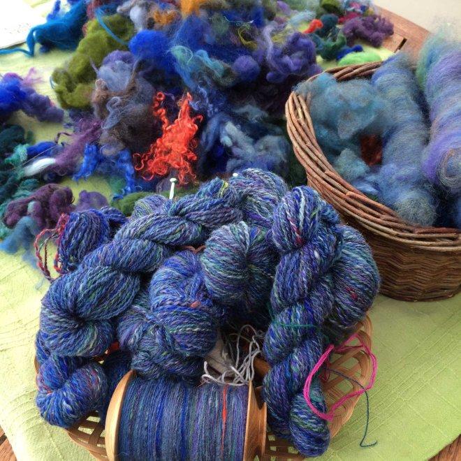 Yarn, fleece and rolags