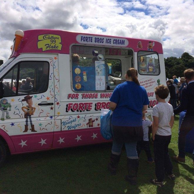 hot enough for ice creams
