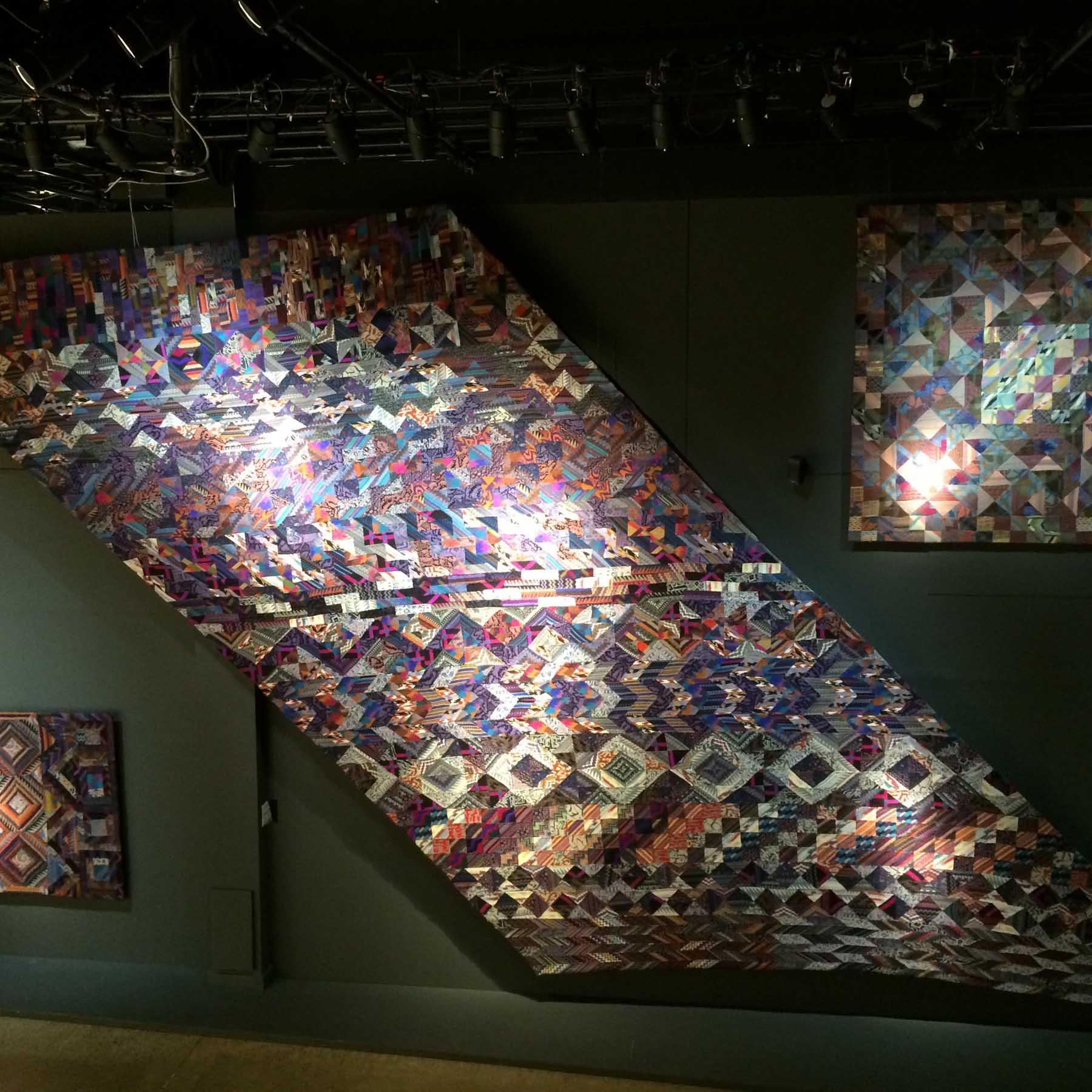 huge patchwork in entrance hall
