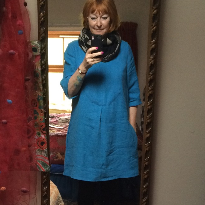 turquoise-linen-dress-finished