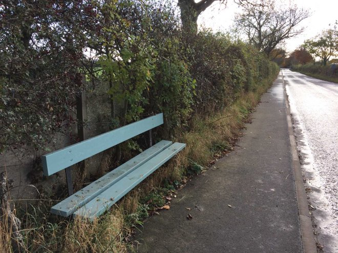 teal-bench-in-the-middle-of-nowhere
