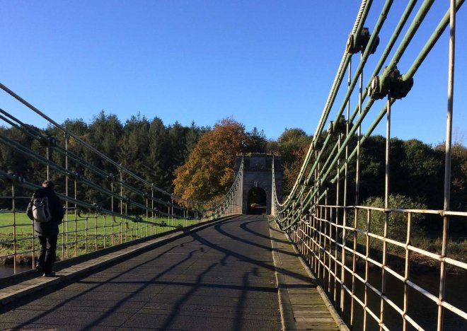 walking-over-union-chain-bridge-to-scotland