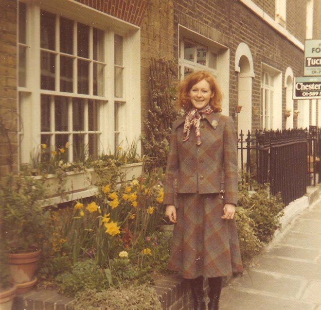 katherine-outside-maunsel-st-1973