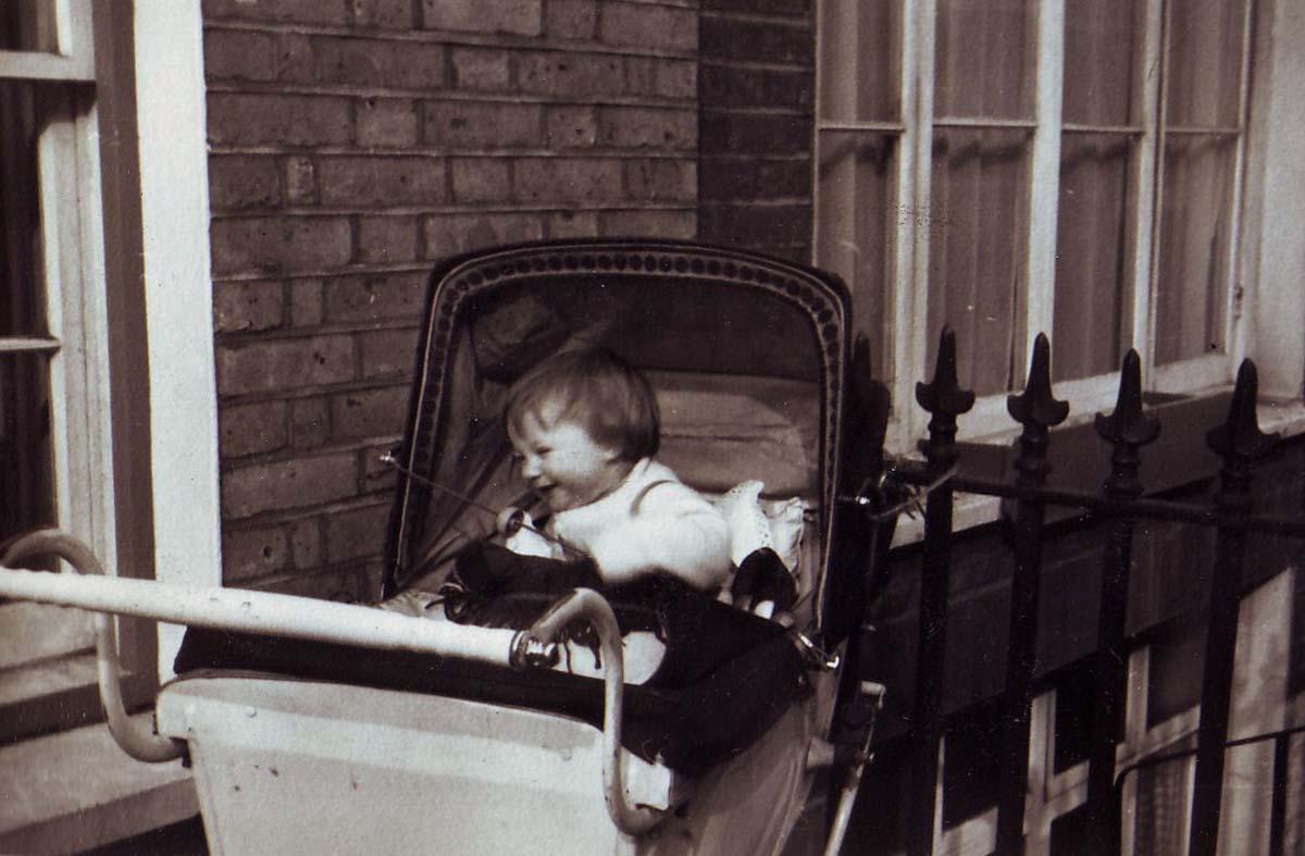 marian-in-pram-1957
