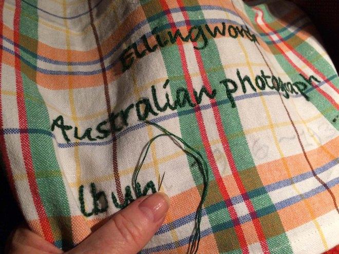 stitching-lettering-on-photo-album-case