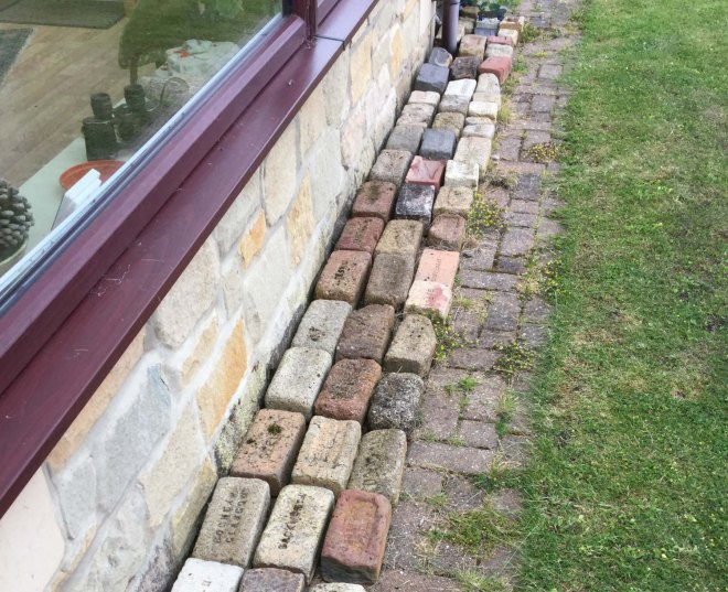 Bricks outside our conservatory