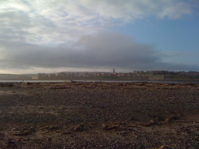 looking over to Berwick from the Spit