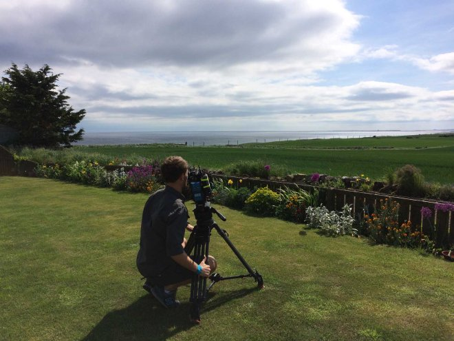 photographer capturing the view