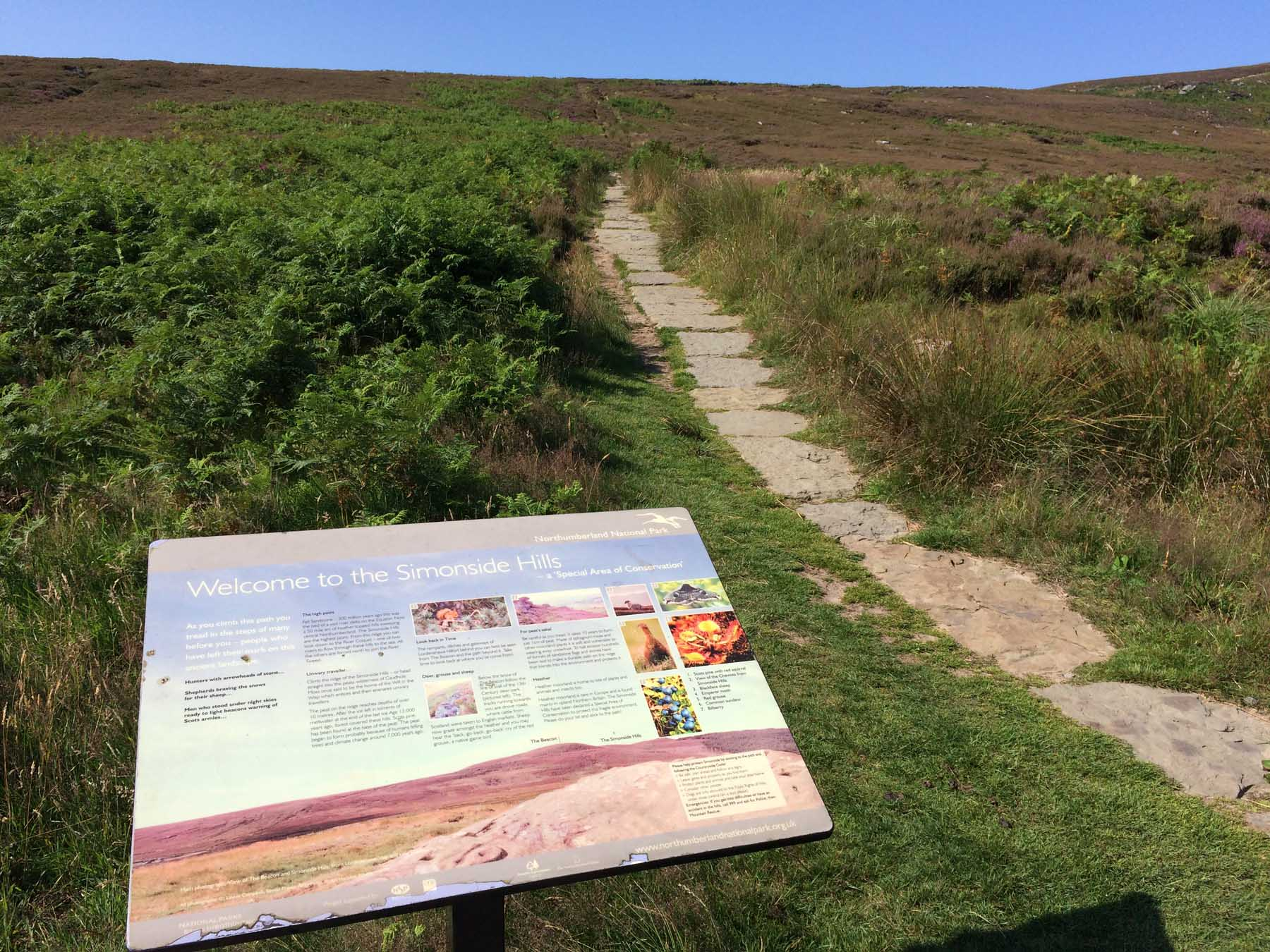 We Started Our Walk At The Lordenshaws Carpark, With A Helpful Noticeboard  And The Path Stretching On And Up Into The Hills.