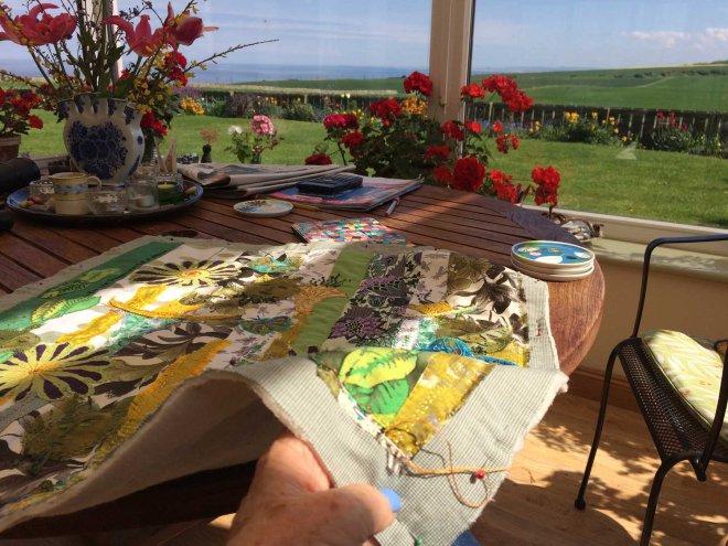 summer conservatory stitching