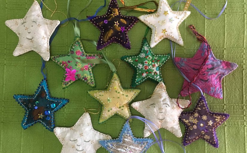 A handmade starry Christmas
