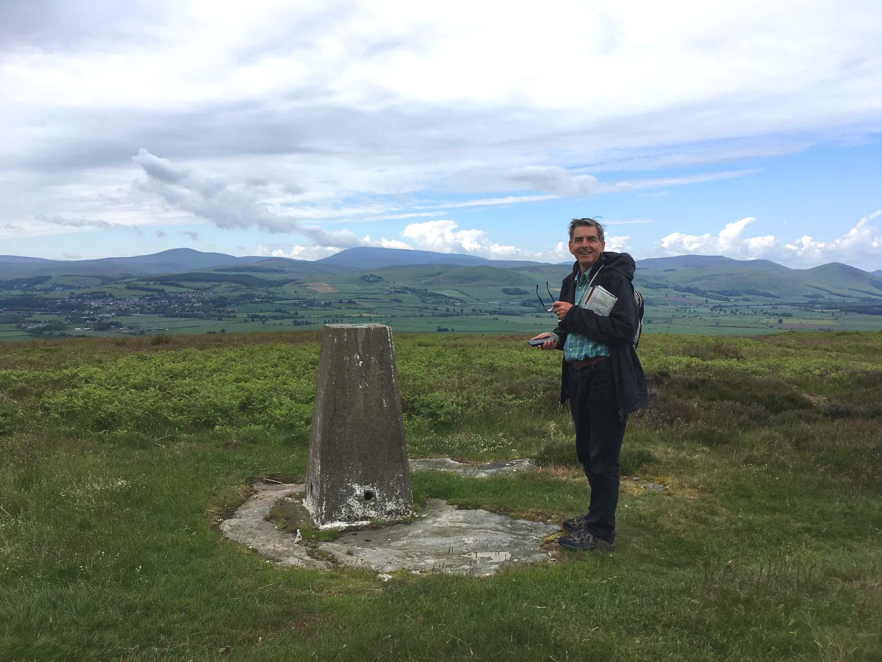 Stephen at the trig point