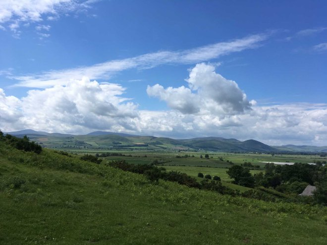 view over to the Cheviots