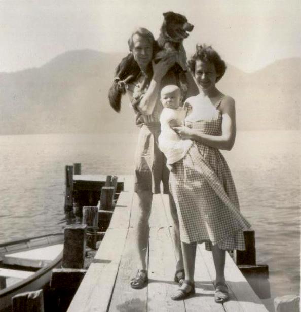 Dick & Mary & Katherine& Chad, Chuzenji 1954
