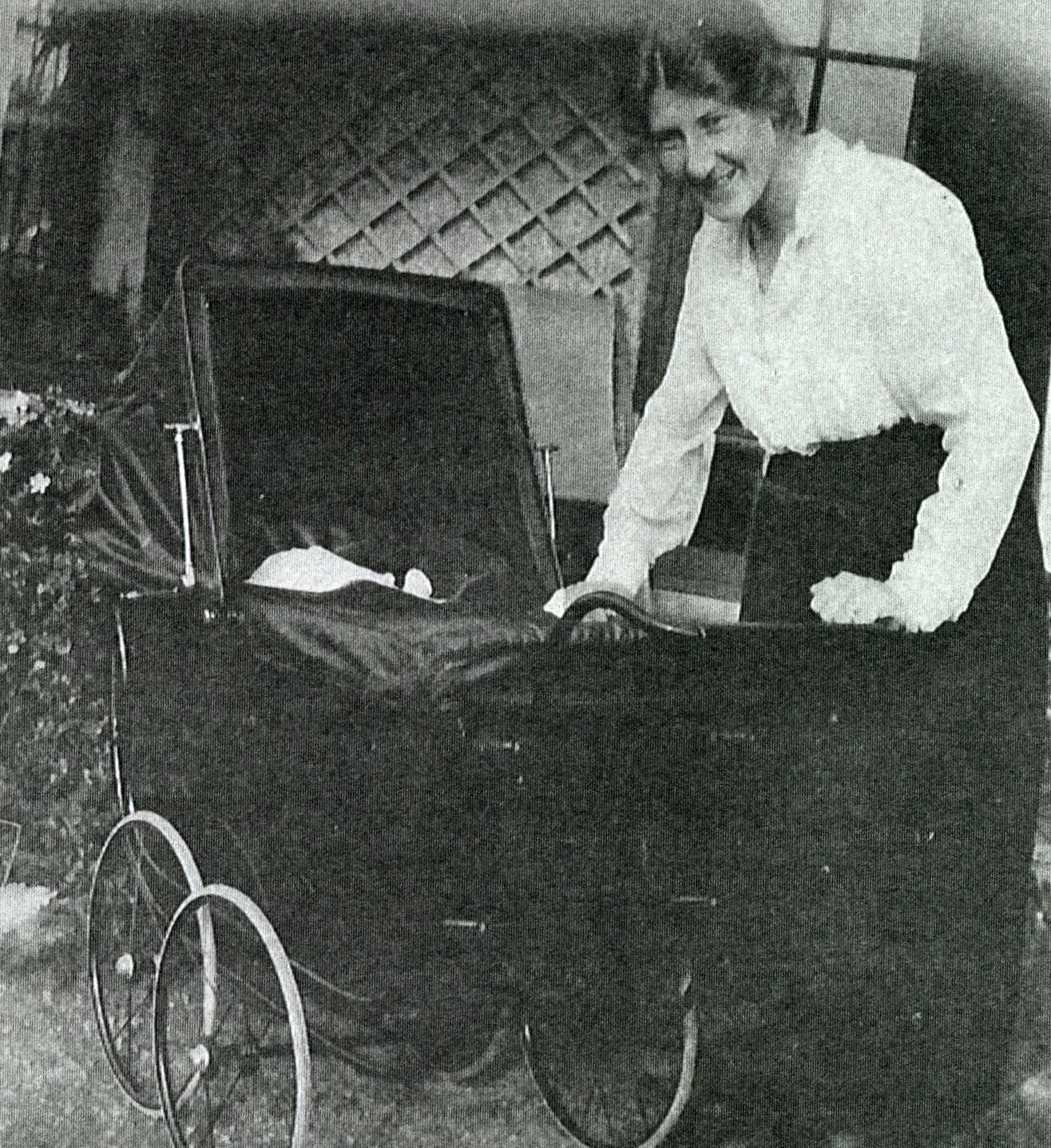 Granny with John, Dublin 1921