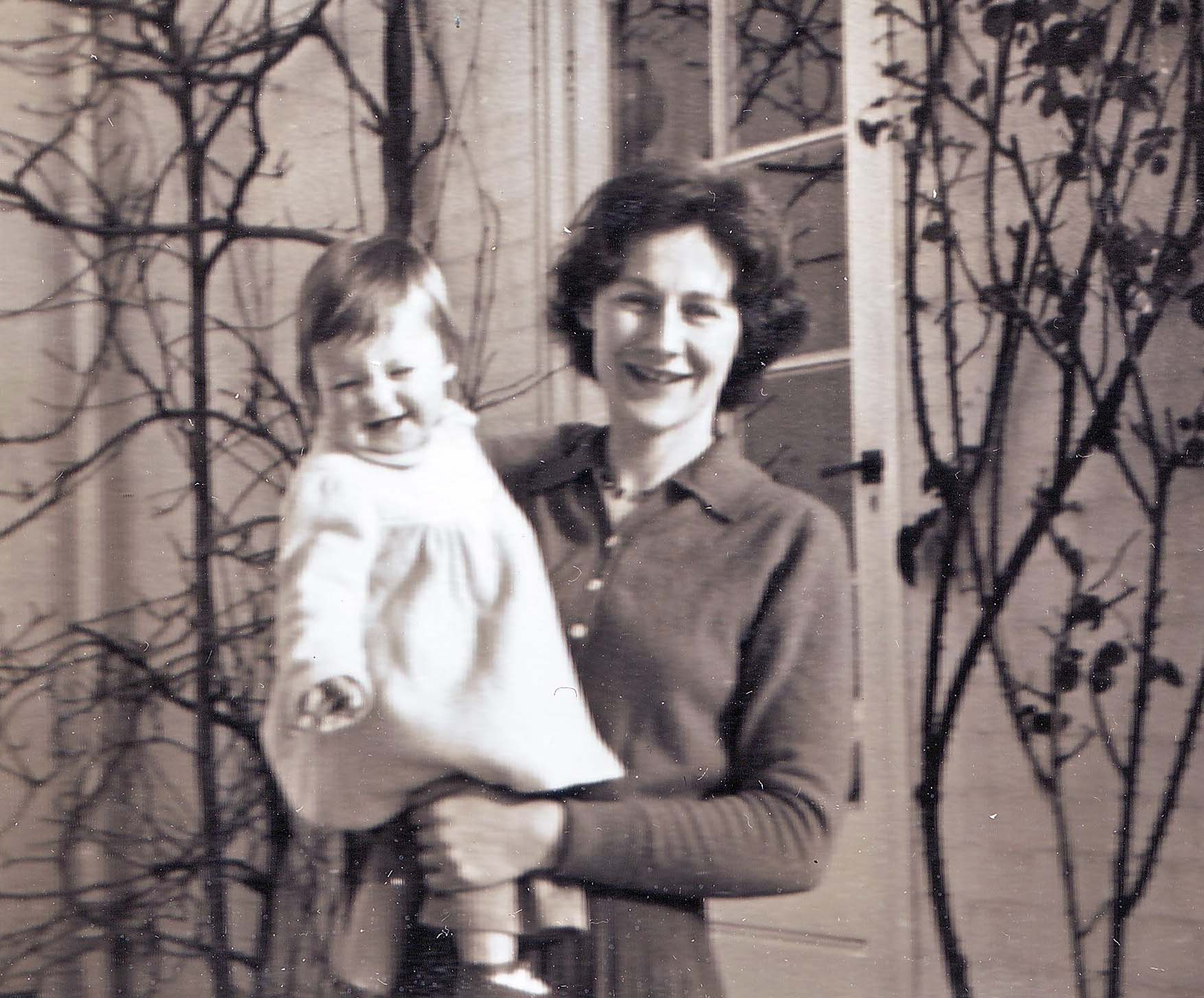 Marian with Mary, Leicester 1957