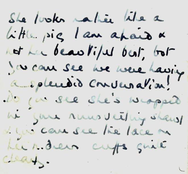 Mary's note that K looks  like little pig 1954.jpg