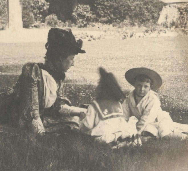 Mathilda Rose with Bill & Perks, Devon c. 1880